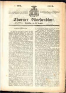 Thorner Wochenblatt 1854, No. 104