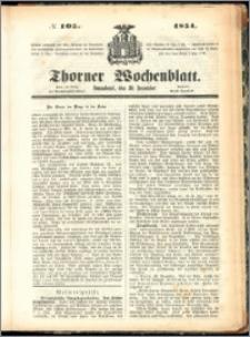 Thorner Wochenblatt 1854, No. 105