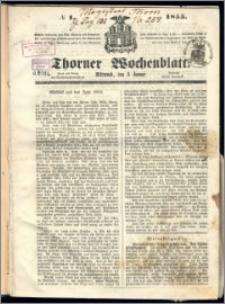 Thorner Wochenblatt 1855, No. 1 + Beilage