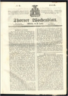 Thorner Wochenblatt 1855, No. 3