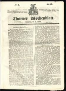 Thorner Wochenblatt 1855, No. 4