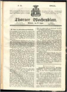 Thorner Wochenblatt 1855, No. 5