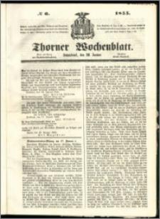 Thorner Wochenblatt 1855, No. 6