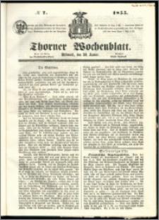 Thorner Wochenblatt 1855, No. 7