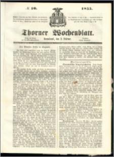 Thorner Wochenblatt 1855, No. 10