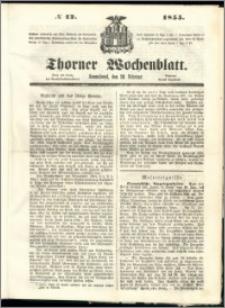 Thorner Wochenblatt 1855, No. 12