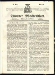 Thorner Wochenblatt 1855, No. 13