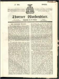 Thorner Wochenblatt 1855, No. 14