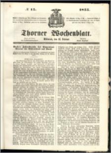 Thorner Wochenblatt 1855, No. 15