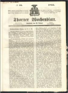 Thorner Wochenblatt 1855, No. 16