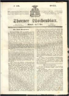 Thorner Wochenblatt 1855, No. 19