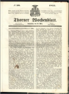 Thorner Wochenblatt 1855, No. 20