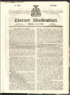 Thorner Wochenblatt 1855, No. 21