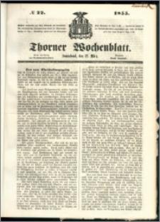 Thorner Wochenblatt 1855, No. 22 + Beilage