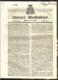 Thorner Wochenblatt 1855, No. 23