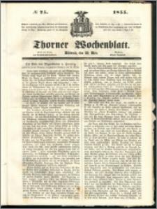Thorner Wochenblatt 1855, No. 25