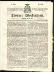 Thorner Wochenblatt 1855, No. 26