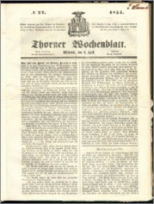 Thorner Wochenblatt 1855, No. 27