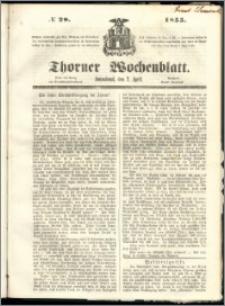 Thorner Wochenblatt 1855, No. 28 + Beilage