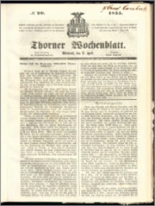 Thorner Wochenblatt 1855, No. 29