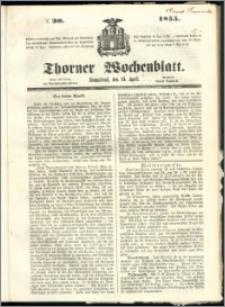 Thorner Wochenblatt 1855, No. 30