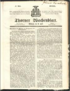 Thorner Wochenblatt 1855, No. 31