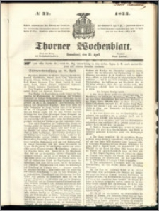 Thorner Wochenblatt 1855, No. 32