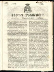 Thorner Wochenblatt 1855, No. 33