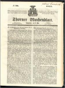 Thorner Wochenblatt 1855, No. 36 + Beilage