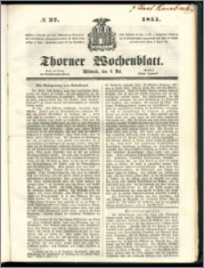 Thorner Wochenblatt 1855, No. 37
