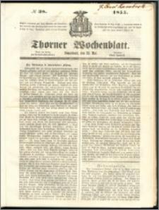 Thorner Wochenblatt 1855, No. 38 + Beilage