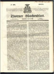 Thorner Wochenblatt 1855, No. 40