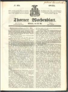 Thorner Wochenblatt 1855, No. 43