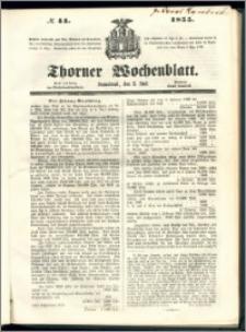 Thorner Wochenblatt 1855, No. 44 + Beilage