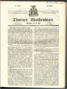 Thorner Wochenblatt 1855, No. 47
