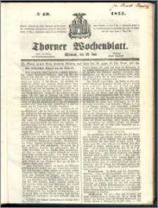 Thorner Wochenblatt 1855, No. 49