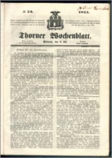 Thorner Wochenblatt 1855, No. 53 + deutsche encyklopädie