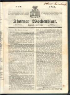 Thorner Wochenblatt 1855, No. 54