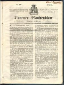 Thorner Wochenblatt 1855, No. 58