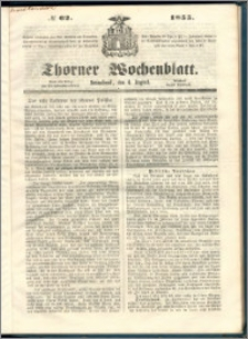 Thorner Wochenblatt 1855, No. 62