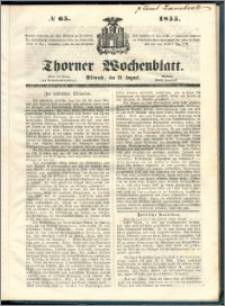 Thorner Wochenblatt 1855, No. 65
