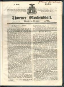 Thorner Wochenblatt 1855, No. 67