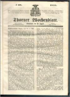 Thorner Wochenblatt 1855, No. 68