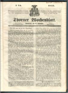 Thorner Wochenblatt 1855, No. 74
