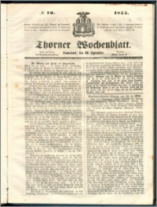 Thorner Wochenblatt 1855, No. 76