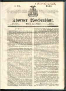 Thorner Wochenblatt 1855, No. 79 + Beilage
