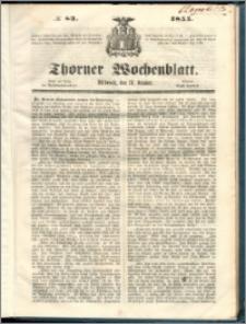 Thorner Wochenblatt 1855, No. 83 + Extra Beilage