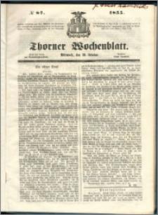 Thorner Wochenblatt 1855, No. 87 + Beilage