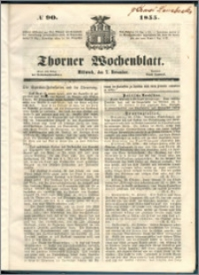 Thorner Wochenblatt 1855, No. 90