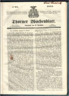 Thorner Wochenblatt 1855, No. 91